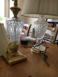 Antique Waterford crystal lamps $80 for the pair Irvine, 92618