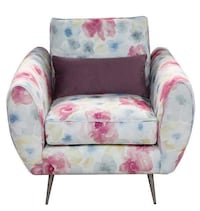 White, pink, and blue floral armchair Coolaroo, 3048