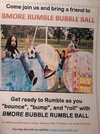Book Bmore Rumble Bubble Ball Glen Burnie