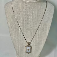 Sterling Silver & Mother of Pearl Pendant with Sterling Rope Chain Ashburn, 20147