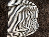 white and black stripe scoop-neck long sleeve shirt Calgary, T2Y 2G2