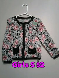 black, white, and pink floral cardigan Calgary, T3B 0T3