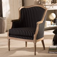 TWO Baxton Studio Charlemagne Accent Chairs Chantilly