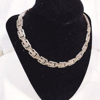 1930s Art Deco 925 Sterling Silver Necklace Taxco Portland, 97222