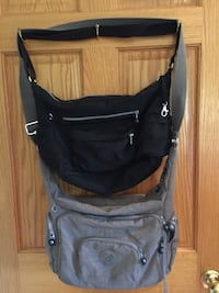 Black and gray shoulder bags