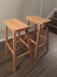 two brown wooden bar stools Alexandria, 22314