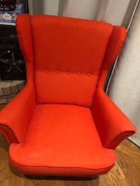red and black leather sofa chair Toronto, M9V 1A4