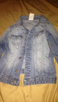blue button-up denim jacket Smiths Station, 36877