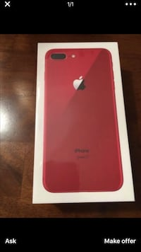 Product Red iPhone 7 plus box Suitland, 20746