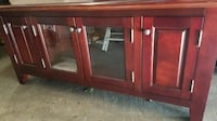 $180 EXCELLENT CONDITION TV STAND CHERRY SOLID WOOD CABINET  Richmond Hill