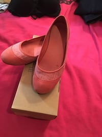 pair of pink leather flats with box Hamilton, 20158
