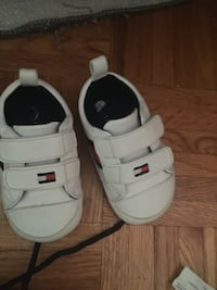toddler's white Tommy Hilfiger velcro shoes Toronto, M9N 3P7