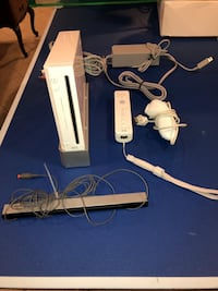Wii with controllers and games