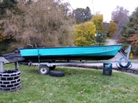 blue and black boat and black boat trailer Princeton, 24740