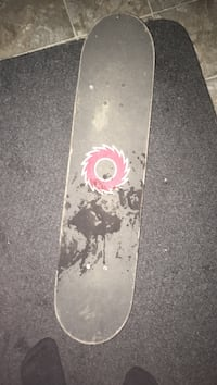 Black and red skateboard