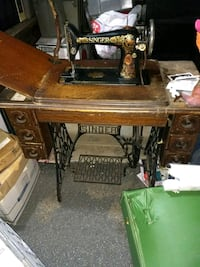 brown and black treadle sewing machine California City, 93505