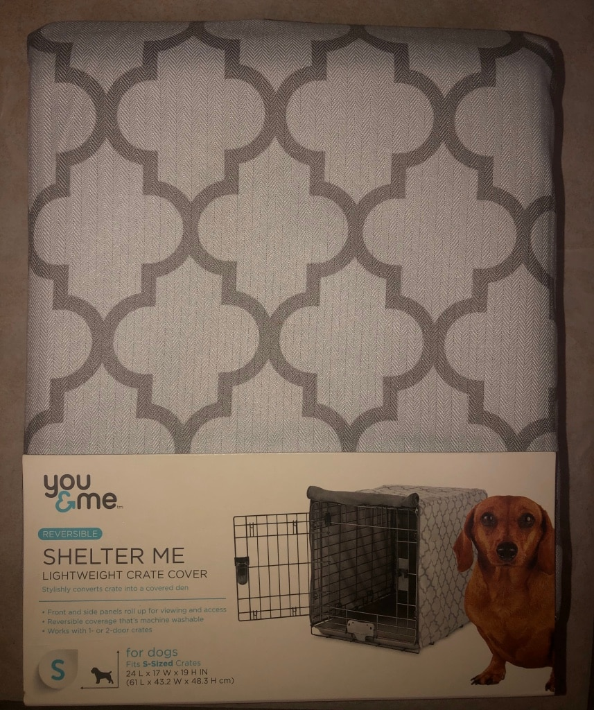 Photo New SMALL Grey Reversible You & Me Dog Crate Kennel Cover