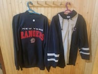 two black and blue zip-up jackets Surrey, V3T 3Y4