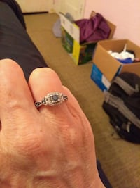 silver-colored diamond ring Duncan, 73533