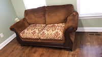 Brown and beige floral fabric sofa chair Clayton, 27520