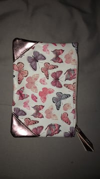 White, pink, and green floral leather wristlet Dundas, L9H 7M5