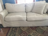 white fabric 2-seat sofa Herndon, 20170