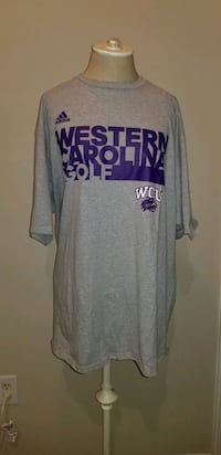 NWT Adidas WCU Western Carolina University Golf TShirt Catamounts Gray