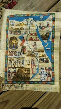 Vintage Egyptian papyrus map Winchester, 22601