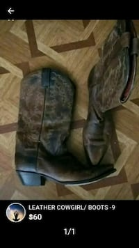 Cowgirl boots size 9 The Bronx, 10454