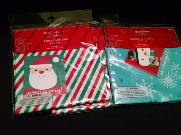 3 Large Gift Bags and Tags