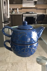 Porcelain Teapot Set... $15.00 each, available  in two colours blue and green Brampton, L7A 3X4