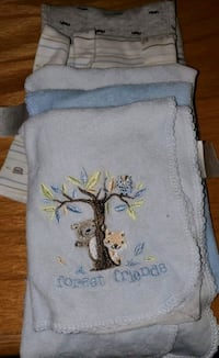 baby burp cloths lightly used