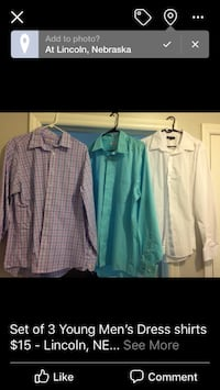 Young men's dress shirts Lincoln, 68502