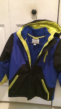 blue black and yellow zipped windbreaker Hemlock, 17815