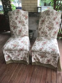 Chair upholstered double skirt  $40.00 each Washington, 20011