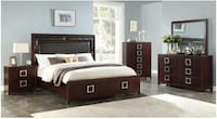 Queen 5pc bedroom set $29 down 90 days no interest no credit needed College Park