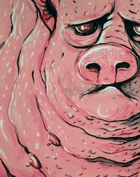 Painting - pig Vancouver