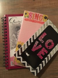 Sketch book plus two writing notebooks