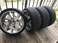 22inch 5 lug rims with tires Leto, 33614