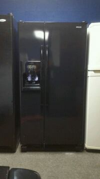 black side-by-side refrigerator with dispenser Anniston, 36201