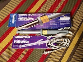 Vintage Clairol Timewave Curling Iron used once