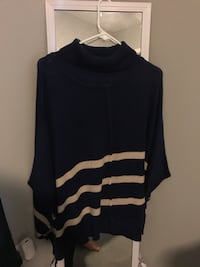 black and gray striped turtle-neck sweater North Myrtle Beach, 29582