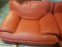 High quality red leather loveseat and lovers chair Ringgold, 30736