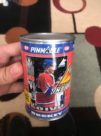 Sealed hockey cards in a can from 97-98 Halifax, B3K