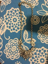 Gold with rhinestones necklace