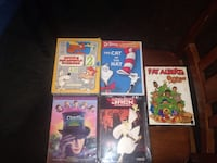 Kids DVD lot of 6(1 DVD not pictured Chester, 19013