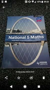 National 5 Maths SQA Textbook with Answers
