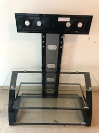 Black metal framed glass tv stand Melbourne, 32940