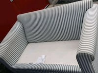 white and gray striped sofa chair Barrie, L4M 6J2