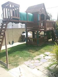 brown and green outdoor playset Carson, 90745